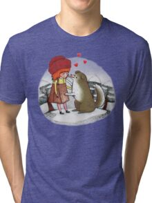 Red Riding Hat Tri-blend T-Shirt