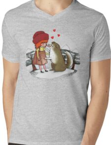 Red Riding Hat Mens V-Neck T-Shirt