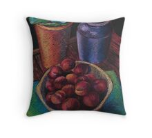 Still Life with Plums Throw Pillow
