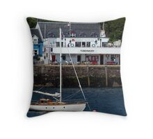 Tobermory Pier Throw Pillow