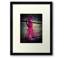 Support Breast Cancer  Framed Print