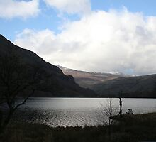 Snowdon in spring, lake and mountains.  by Grace Johnson