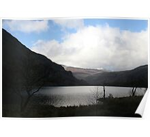 Snowdon in spring, lake and mountains.  Poster