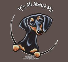 Smooth Black/Tan Dachshund :: It's All About Me One Piece - Short Sleeve
