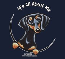 Smooth Black/Tan Dachshund :: It's All About Me by offleashart