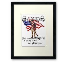1776 (Black) Framed Print