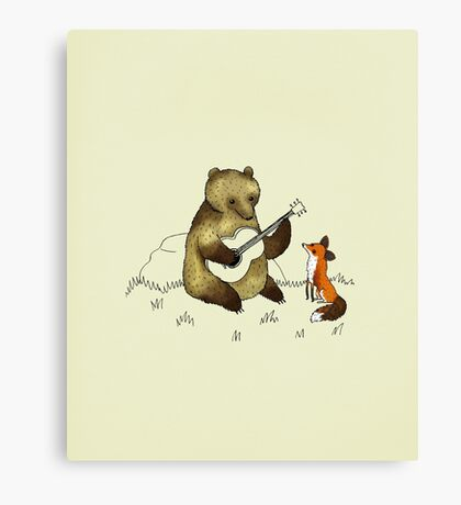 Bear & Fox Canvas Print