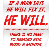 A man will fix it Poster
