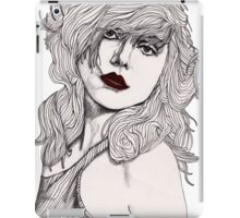 Debbie with Red Lips iPad Case/Skin