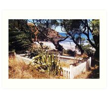 Graves from the wreck of the Wairarapa, Gt. Barrier Is. Art Print