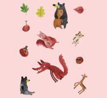 Woodland Sticker Sheet Kids Tee