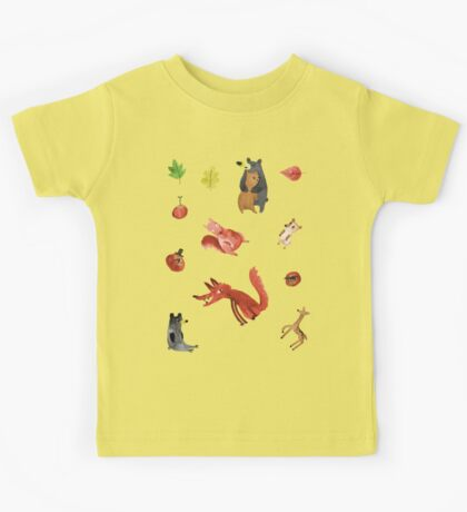 Woodland Sticker Sheet Kids Tee