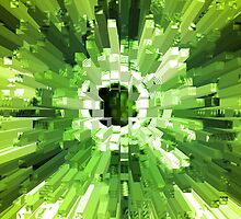 Extrusion Abstract Lime Green by Natalie Kinnear