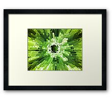 Extrusion Abstract Lime Green Framed Print