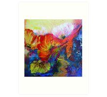 Colourfull Poppies Art Print