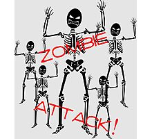 Zombie Skeletons Attack! Photographic Print