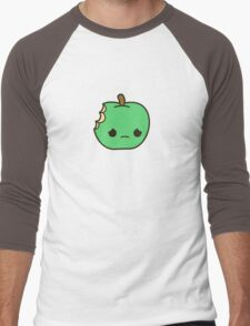 Cute sad apple Men's Baseball ¾ T-Shirt