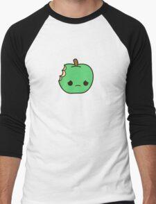Cute sad apple Men's Baseball ¾ T-Shirt