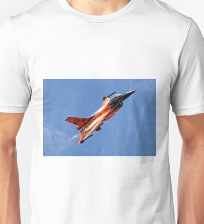 "RNethAF F-16AM Fighting Falcon J-015 ""Orange Lion"" Unisex T-Shirt"