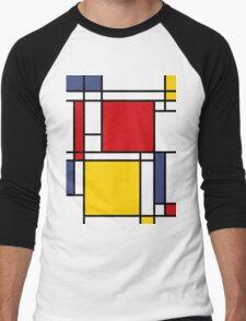 Mondrian Men's Baseball ¾ T-Shirt