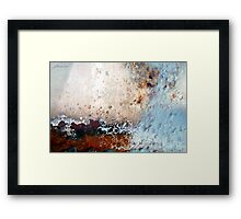 Rough Sailing Ahead Framed Print