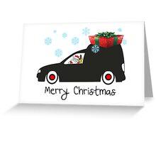 Santa s new caddy Greeting Card