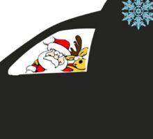 Santa s new caddy Sticker