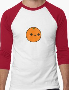 Cute orange Men's Baseball ¾ T-Shirt