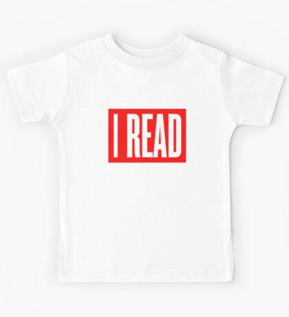 I READ BOOKS Kids Tee