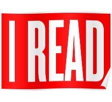 I READ BOOKS Poster