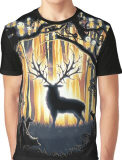 Deer God Master of the Forest Graphic T-Shirt