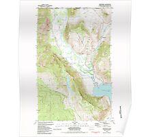 USGS Topo Map Washington State WA Nighthawk 242820 1981 24000 Poster