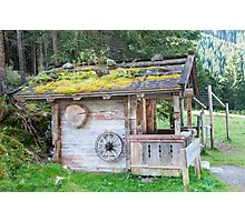 Woodman's cabin Zillertal forest near Winnertal, Tyrol, Austria Photographic Print