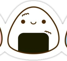 Kawaii pastel onigiri Sticker
