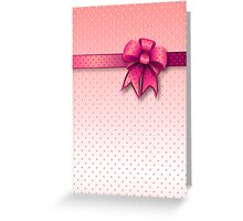 Card Pink Bow Greeting Card
