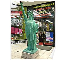 Replica Statue of Liberty outside of the Electronics Store, 8th Avenue, NYC Poster