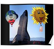 Morning Launch Albuquerque Balloon Fiesta Poster