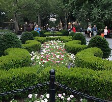 Washington Square Park Garden - Greenwich Village, New York City by SylviaS