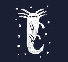 Axolotl Print One Piece - Short Sleeve