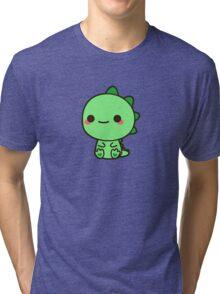Kawaii Dinosaur Tri-blend T-Shirt