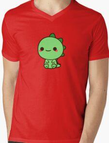Kawaii Dinosaur Mens V-Neck T-Shirt