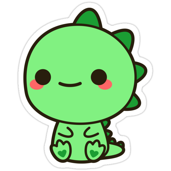 kawaii dinosaur stickers by peppermintpopuk redbubble