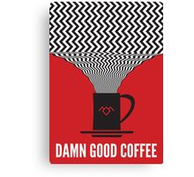 Twin Peaks - Damn Good Coffee Canvas Print