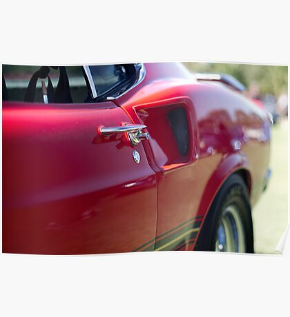 Red Mustang - Get a handle Poster
