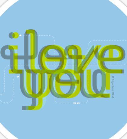 I love Y Sticker