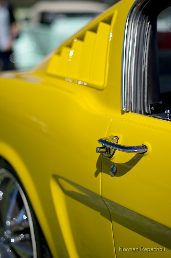 Yellow Mustang - Get a grip by Norman Repacholi