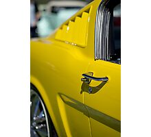 Yellow Mustang - Get a grip Photographic Print