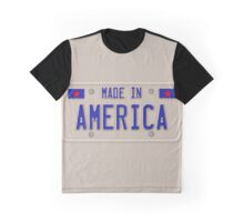 Made In America Car Licence Plate Graphic T-Shirt