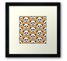Cute Panda Bear Framed Print