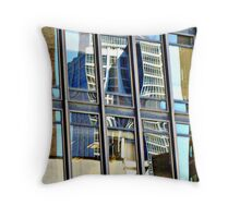 A Dr. Seuss Building Reflection, NYC Throw Pillow